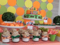 mesa de doces festa infantil cocorico