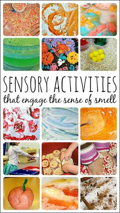 Fun and engaging SCENTED sensory activities for the kids. Creative ideas to try. Sensory Art, Sensory Activities, Learning Activities, Preschool Activities, Kids Learning, Sensory Bins, Sensory Table, Teaching Ideas, Senses Preschool