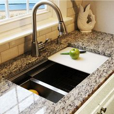 The NT-ZR-PS-3018-16 30'' Pro Series Collection Premium Stainless Steel Zero Radius Pro Undermount Kitchen Sink by Nantucket Sinks is made from 16-gauge 304 stainless steel in a Brushed Satin finish. This sink features built-in ledges, and includes an accompanying cutting board, a deluxe stainless colander that fit right into the sink with a bottom grid to protect the sink's finish. Find exclusive offers and free shipping on orders over $99 on Nantucket Sinks Kitchen Sinks when you shop at…