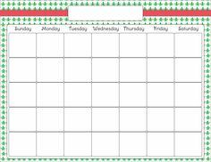 Blank Calendar Clipart with regard to Blank Calendar Template For Kids Daily Calendar Template, Printable Blank Calendar, Printable Planner, Free Printables, Printable Templates, Credit Card Application, Greeting Card Template, Planner Pages