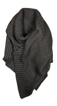 Cozy Grey Shawl. This looks amazing, but would take a lot of attention to knit.