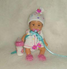 OOAK Handmade GIRL baby DIAPER SET bottle pacifier 6pc for Krissy polymer clay