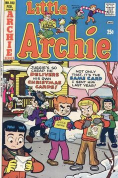 GCD :: Cover :: Little Archie #103 Archie Comics Riverdale, Christmas Comics, Cover, Cards, Map, Blankets
