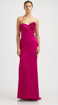 Get bold with some fuchsia. | 36 Colorful Wedding Gowns That Prove You Don't Have To Wear White