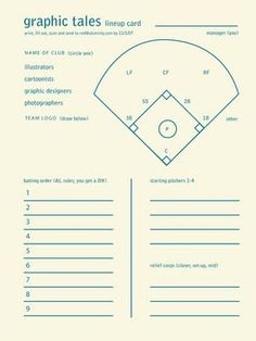 Adorable image with regard to free printable baseball lineup cards