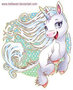 Wind Unicorn by KelleeArt on deviantART