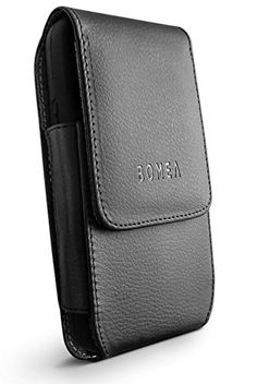 Galaxy S6 Galaxy S6 Edge Case Bomea Leather Case Belt Clip Holster Pouch Cover for Samsung Galaxy S6 S6 Edge  Swivel Belt Clip with Magnetic Flip Closure (Also Fit with Another Case On) Black