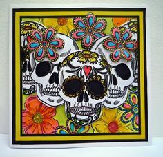 Card created with the Day of the Dead collection from Sheena Douglass. #crafterscompanion