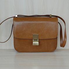 Celine Black Celine Black Celine-L.Brown-Classic-BOX-Shoulder-Bags