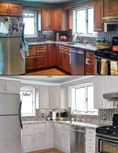 renovation rustic kitchen in modern kitchen Kitchen Niche, Diy Kitchen Remodel, Kitchen Plans, Kitchen Remodel, Kitchen Cabinet Remodel, Small House Remodel, Kitchen Sink Remodel, Diy Kitchen, Kitchen Renovation