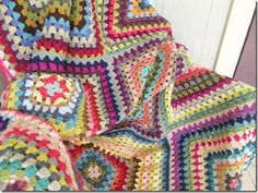 This one was so easy, then it was so hard. I made twelve twenty-round granny squares, using odds and ends from my scraps basket, and it was a breeze, I tell you. It felt like I could've done that pa
