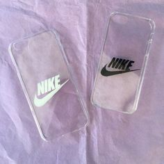 Hard transparent iPhone cover case with Nike logo by Zocan on Etsy