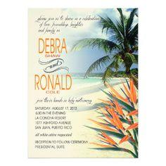 Debra Emerald Waters Tropical Beach | papaya FELT Personalized Announcements