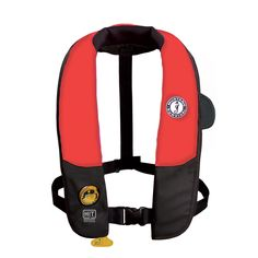 Mustang Deluxe Automatic Inflatable PFD Universal - Red/Black - https://www.boatpartsforless.com/shop/mustang-deluxe-automatic-inflatable-pfd-universal-redblack/