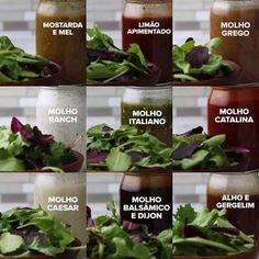 As 9 Receitas Rápidas de Molho Para Salada são deliciosas, ficam prontas em minutos e combinam com vários tipos de saladas e gostos pessoais. Escolha a sua!