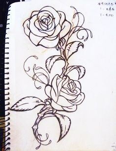 Thinking of something like this for my right arm half sleeve! Love the ROSES! Needs different leaves. Rose Vine Tattoo Designs | My Roses tattoo by ~LO-YO on deviantART | best stuff