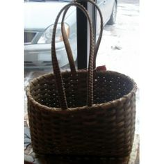 Home Decor / Housewares :: Handwoven Baskets :: Dark Brown Hand Woven Market Basket