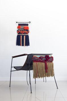 Poltrona Interlace- Dennys Tormen, e a designer de moda Luiza Caldari