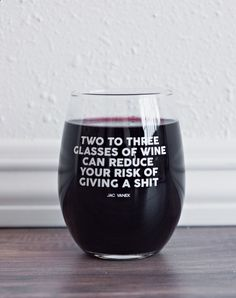 Wine Glasses - Reduce Your Risk Wine Glass