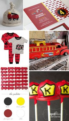Printable Fire Truck Birthday Party