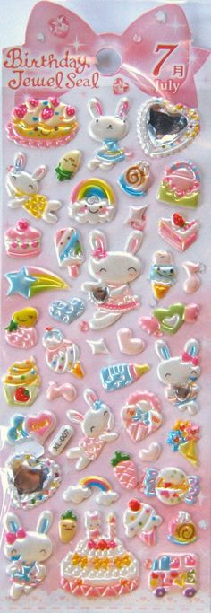 Lovely emotional funny face puffy Sticker cute scrap booking diary tab UK