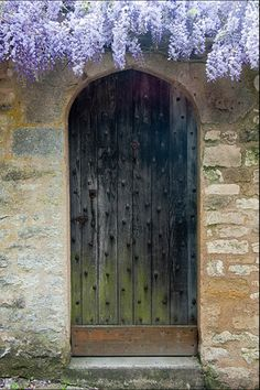 Old Door, Vézelay, France...reminds me of a doorway I saw in Portobello Market in London.
