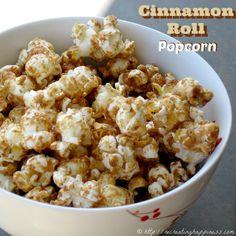 Cinnamon Roll POPCORN - very addictive! #GF #popcorn