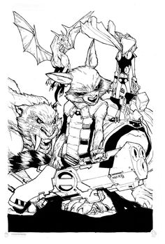 Guardians Team Up #5 - Rocket Raccoon by Humberto Ramos *