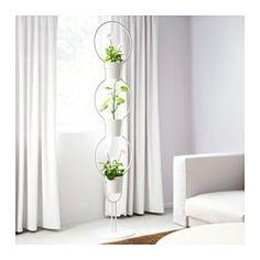 IKEA - IKEA PS 2012, Piédestal avec 3 pots, Piédestal gain d'espace. Peut recevoir 3 plantes.Un piédestal avec des plantes permet de rehausser votre intérieur.