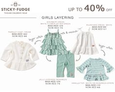 Branded Clothing - up to off Beautiful cotton clothing, which can be mixed and matched, is on sale now, only whilst stocks last! Sticky Fudge, Baby Online, Mix Match, Kids Wear, Kids Clothing, Kids Outfits, Fashion Accessories, White Dress, Coat