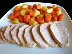 Arrosto di vitello con patate e carote
