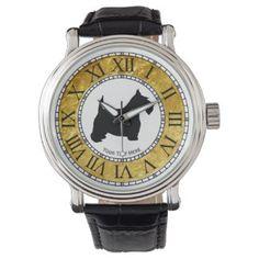 Scottish Terrier Personalize Wristwatch