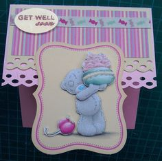 Me To You Sweet Shop Get Well Soon Card with matching envelope Bear Card, Blue Nose Friends, Tatty Teddy, Get Well Soon, Get Well Cards, Your Cards, Decoupage, Envelope, Projects To Try