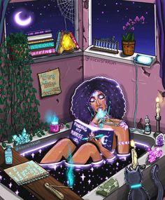 """Manifesting My Dreams"" by Alexis rakun. Black Love Art, Black Girl Art, Art Girl, African American Art, African Art, Arte Black, Art Et Design, Shotting Photo, Stoner Art"