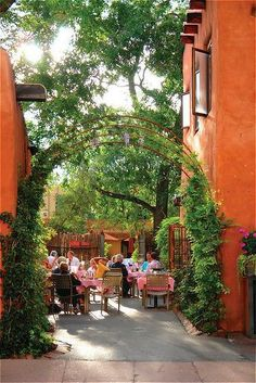 The famous 'Pink Adobe' restaurant in Santa Fe. Classic food for a generation. ~ R