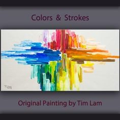 Original Texture Art painting huge Impasto brushwork oil painting on gallery wrap linen canvas by Tim Lam x Oil Painting Abstract, Abstract Art, Painted Boards, Office Art, Texture Art, Acrylic Art, Resin Art, Painting Inspiration, Wood Art