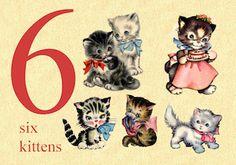 Vintage School, Vintage Cat, Vintage Flash, Images Vintage, Vintage Pictures, Alphabet Cards, Book Illustration, Cat Illustrations, Cat Cards