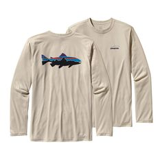 Patagonia Men's Long-Sleeved Graphic Tech Fish Tee - gonna be a work shirt.
