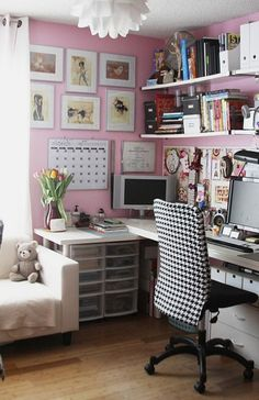 Office/Craft Room. I love this, I really need to get started on my craft/office room.