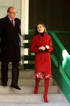 Queen Letizia of Spain Ignacio Munoz Pidal arrive to a meeting at the AECC on December 21 2017 in Madrid Spain