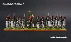 AB Napoleonic French Guard Chasseurs, painted by Rafa Archiduque Waterloo 1815, Battle Of Waterloo, Fun World, Military Diorama, Painting Studio, Miniature Figurines, Napoleonic Wars, Reference Images, Toy Soldiers