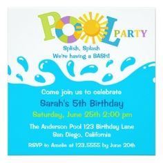 Pool Party Free Printable Party Invitation Template Greetings - Free printable birthday pool party invitations templates