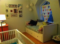 Love the bed in the babies room, perfect for Tay to sleep with his baby brother