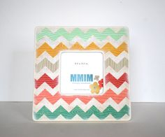 Chevron Photo Frame - all this craft needs is a photo of you and your sisters