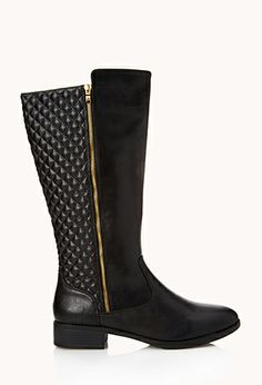 Iconic Quilted Boots   FOREVER21 - 2000074346