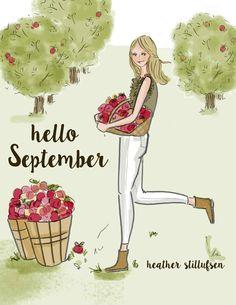 rose hill designs by heather stillufsen Days And Months, Months In A Year, 12 Months, Hallo September, Hello September Quotes, September Holidays, Rose Hill Designs, Neuer Monat, Graphisches Design