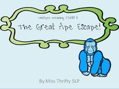 Miss Thrifty SLP: We're going bananas for multiple meaning words! Pinned by SOS Inc. Resources. Follow all our boards at pinterest.com/sostherapy/ for therapy resources.