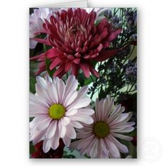 Pink Flowers Mother Day Card