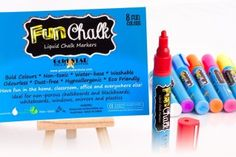 Gold Star Selections Fun Chalk Liquid Chalk Pens are Safe for the Environment Chalkboard Mirror, Web History, Liquid Chalk Markers, Color Dust, New Pins, Gold Stars, Mother Gifts, Bold Colors, Have Fun
