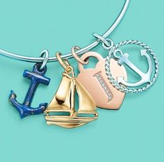 This. Is. So. Me. I seriously need some rose gold and some nautical charms on my Tiffany bracelet!